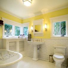 Craftsman Bathroom by Kat Freeman Designs