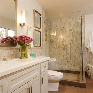 Inspiration for a timeless mosaic tile bathroom remodel in Los Angeles