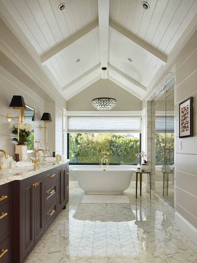 Ideal Traditional Bathroom by Lindsay Chambers Design