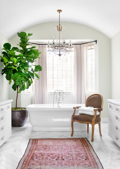 Transitional Bathroom by Burnham Design