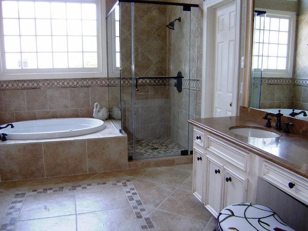 Mediterranean Bathroom by Beverly Vosko Interiors and Remodeling