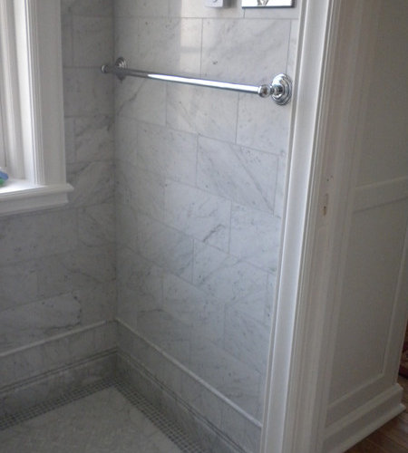 Carrara bathroom home design ideas pictures remodel and for Bathroom remodel under 5 000