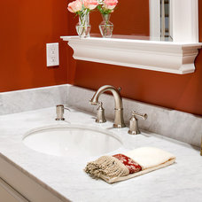 Modern Bathroom Bianco Carrara Marble Vanity