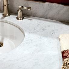 Modern Bathroom Bianco Carrara Marble Vanity