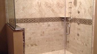 big custom shower bath