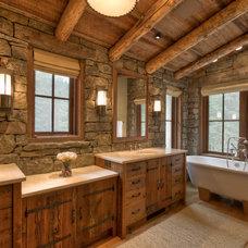 Traditional Bathroom by Laura Fedro Interiors, Inc.