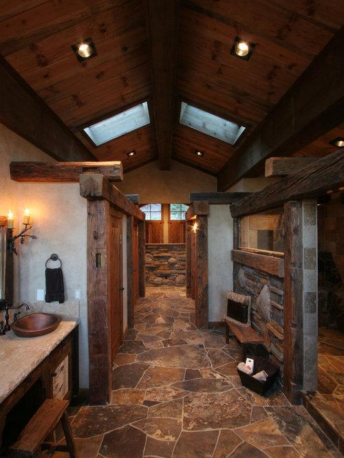 Rustic Bathroom Design Ideas, Renovations & Photos with ...