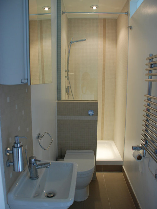 Small ensuite bathroom design ideas renovations photos for Ensuite ideas