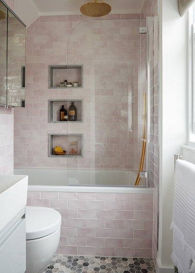 Transitional Bathroom by Maurizio Pellizzoni Ltd