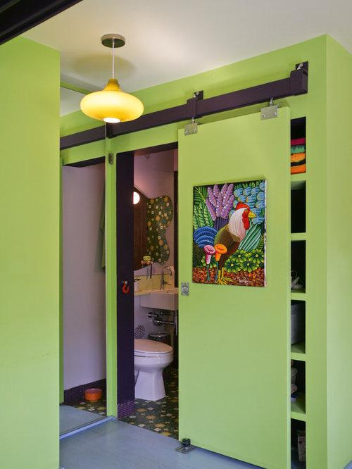 Bathroom sliding door design ideas remodel pictures houzz for Bifold bathroom door designs