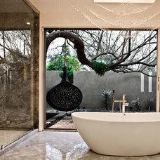 Contemporary Bathroom by Marsha Cain Designs