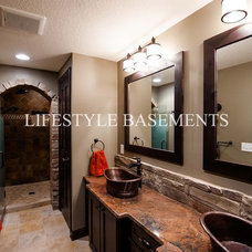 Traditional Bathroom by Lifestyle Basements|Kitchens