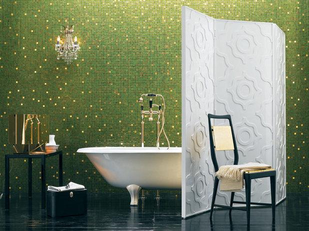 Rivestimento Bagno Verde Mela : Colpo di colore un tocco di verde in bagno