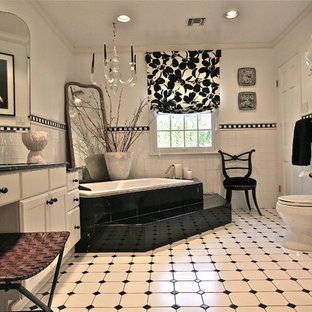 White Tile Floor Bathroom Ideas
