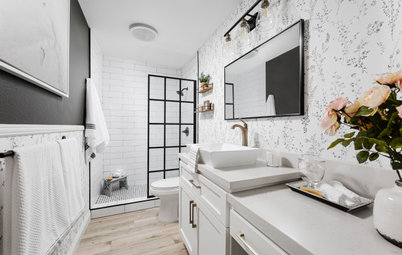 Bathroom of the Week: Black, White and a Touch of Floral