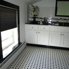 Contemporary Bathroom by CellularWindowShades.com