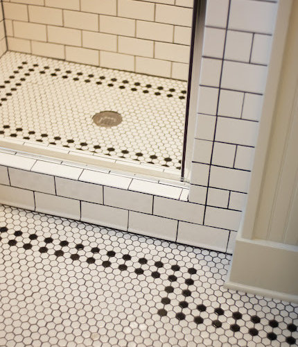 SaveEmail  Keep Smiling Home  Black and White Hex Tile. Houzz   White Hex Tile Design Ideas  amp  Remodel Pictures