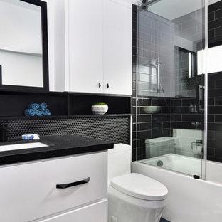 Black and White Sleek, Modern Bathroom