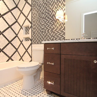 black white tile flooring   houzz