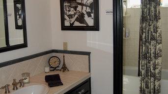 Black & White Toile Bathroom