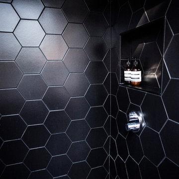 Black Hexagon Bathroom