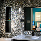 Natural White Mother Of Pearl Bathroom