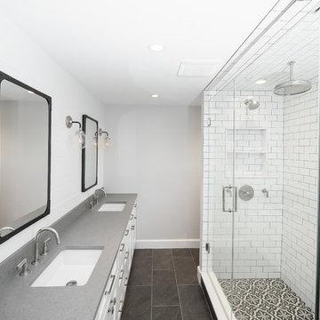 Black, White and Gray Master Bath