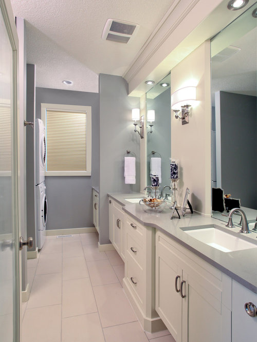 Laundry bathroom combo houzz for Laundry in bathroom ideas