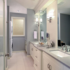 Transitional Bathroom by Mulberry's Design House