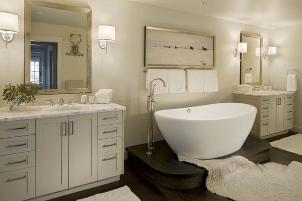 Transitional Bathroom by DHR Architecture
