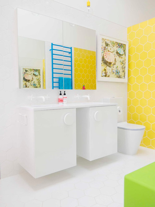 Design Ideas For An Eclectic Kids Bathroom In Auckland.