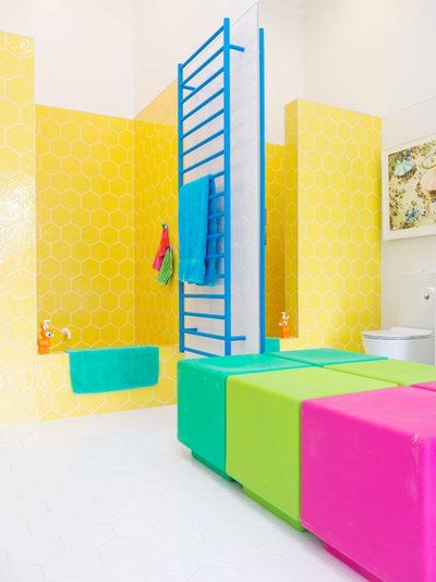 Eclectic Bathroom by Alex Fulton Design