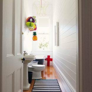 Eclectic bathroom photo in Auckland