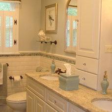 Traditional Bathroom by Kay Crowson Rasoletti Interior Design