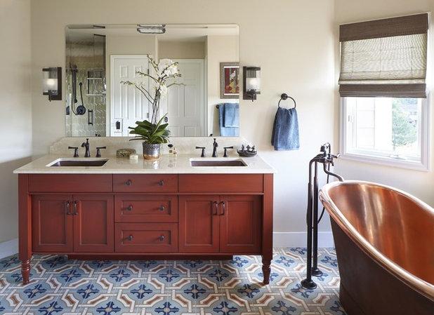 Transitional Bathroom by Atelier Interior Design
