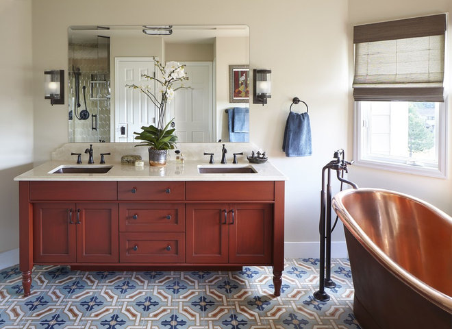 Transitional Bathroom by Atelier Interior Design
