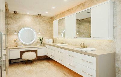 Before & After: Glitzy '80s Bathroom Goes Sleek Modern