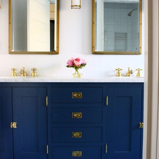 Blue & Brass Boys' Bathroom