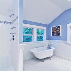 Craftsman Bathroom by Avenue B Development