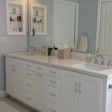 Blue and White Master Bathroom