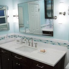 Traditional Bathroom Blue Bath Remodel