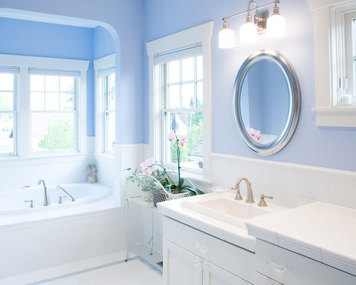 Blue And White Bathroom Design Ideas Remodel Pictures – Blue Bathroom