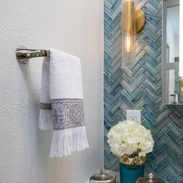Blue Master Bathroom