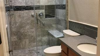 Blue Moroccan Tiled Bathroom