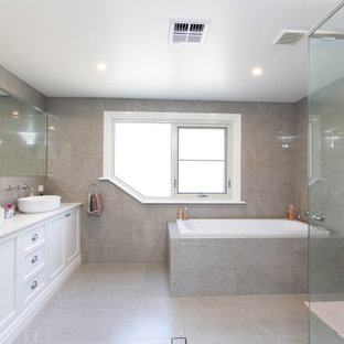 Design ideas for a transitional bathroom in Other.