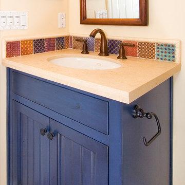 Blue Painted Bathroom