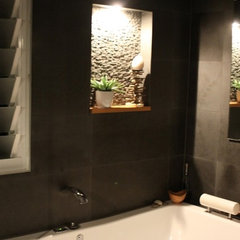 asian bathroom by Teal Sea Design