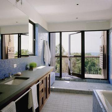 Blue Tile Bath