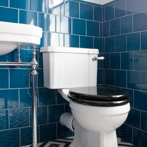 Awesome 75 Most Popular Bathroom With Blue Tiles And Ceramic Tiles Download Free Architecture Designs Itiscsunscenecom