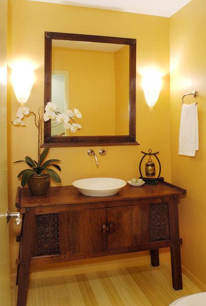 Tropical Bathroom by Archipelago Hawaii Luxury Home Designs